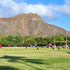 Rugby beneath Diamond Head   Oahu, Hawaii