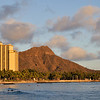 Diamond Head sunset   Waikiki, Hawaii
