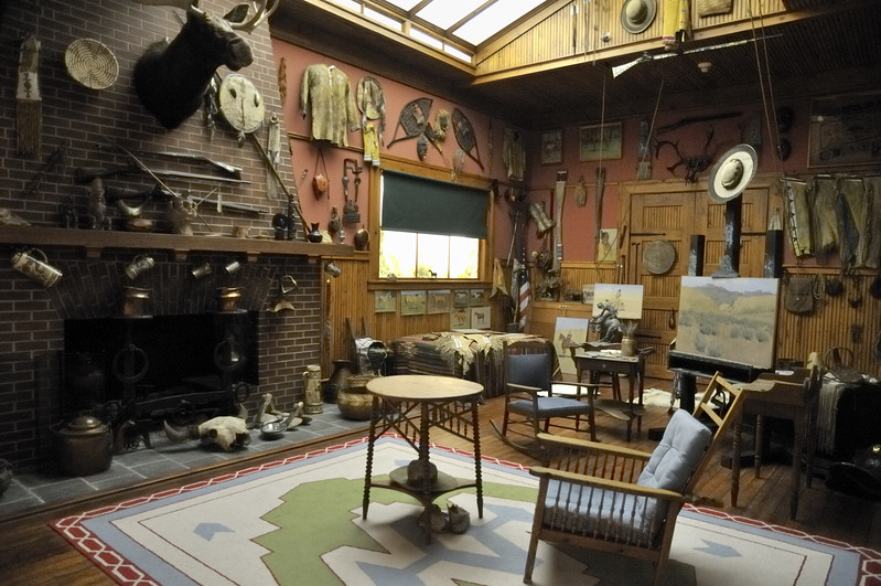 Reproduction of the Frederic Remington studio at the Buffalo Bill Historical Center   Cody, Wyoming