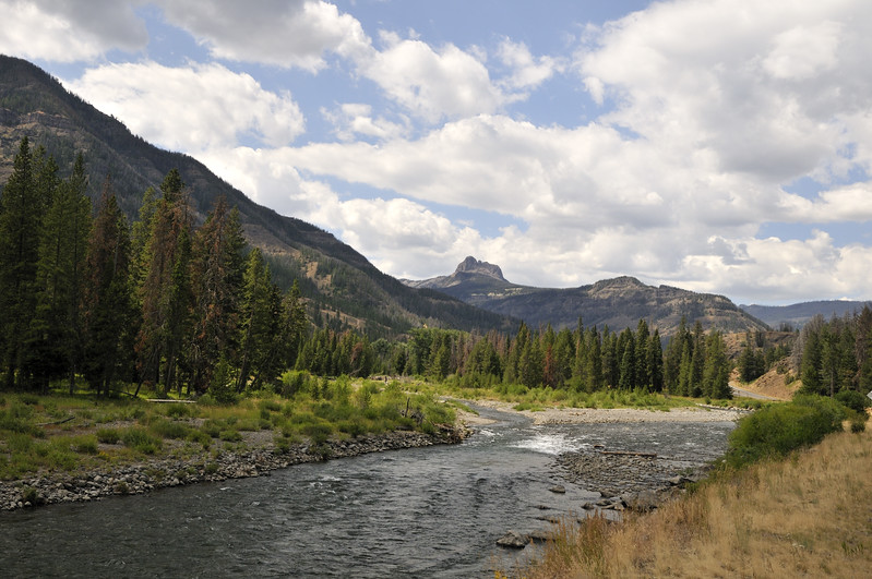 Along the Shoshone River  Yellowstone National Park, Wyoming