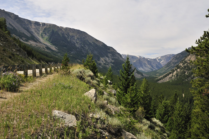 Along the Beartooth Highway in Wyoming