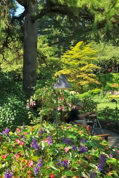 Capturing the sunken gardens
