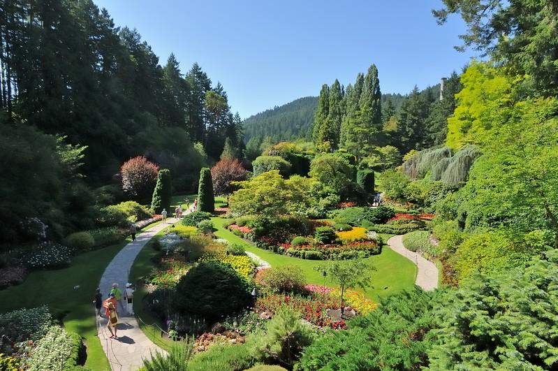 Famous sunken gardens