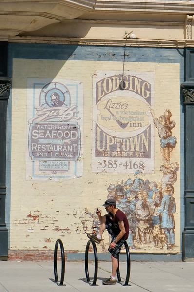 Hanging out on Water Street with the Victorian ad