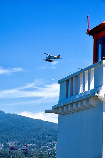 Seaplane departing near Brockton Point