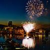 Canada Day 2016 fireworks over the inner harbor