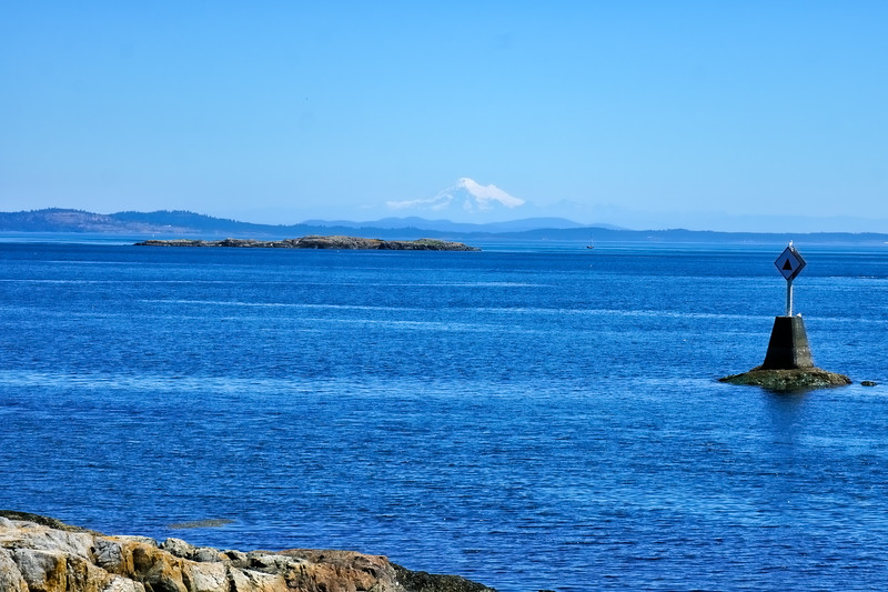 Haro Straight and Mt. Baker from Beach Drive