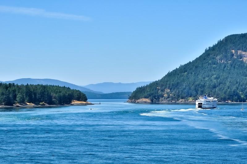 BC Ferries sailing between Tsawwassen and Swartz Bay