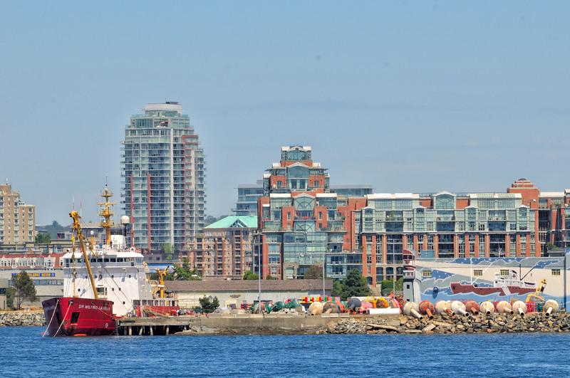 Approaching Victoria B.C. harbor