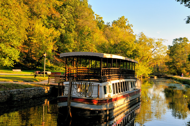 C & O canal boat