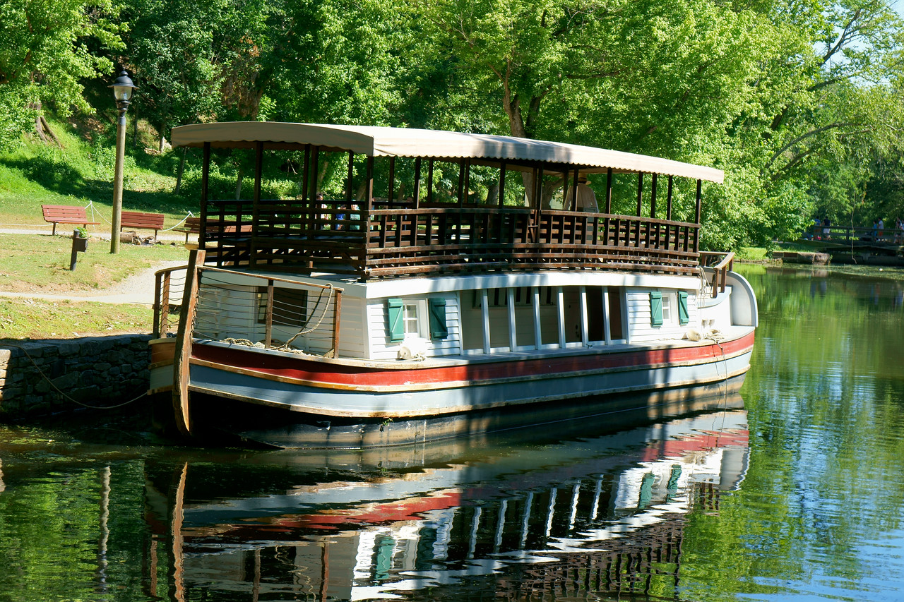 Canal boat on the C & O Canal