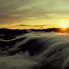 Fog cascading at sunset - Devil's Knob Overlook - Wintergreen, Virginia