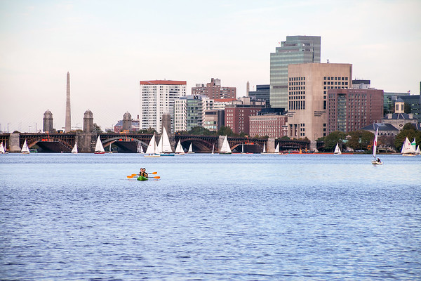 Kayaking on Charles River in Boston