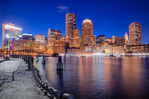 Boston's Skyline at night