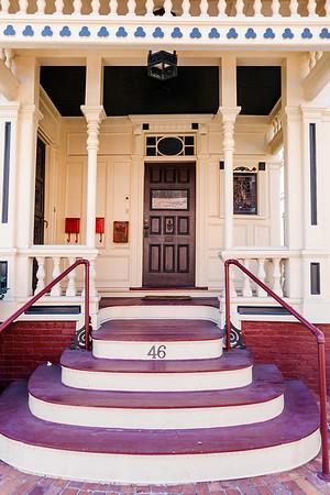 Entrance of a house in Somerville, Massachusetts