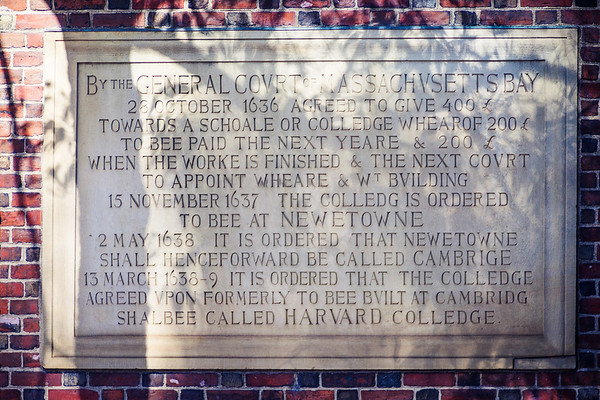 Descriptive text at  Harvard University