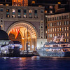 Rowes Wharf Complex at night