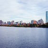View on Back Bay from Harvard Bridge, Boston