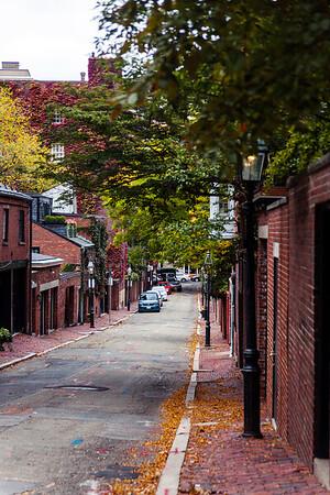 A street in Beacon Hill, Boston