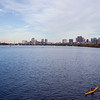 Kayak on Charles River in Boston
