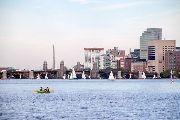 Kayaking on Charles River in Boston