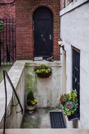 House entrance in Beacon Hill, Boston