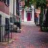Brick sidewalk in Beacon Hill, Boston