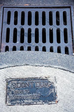 Don't Dump, Drains to Boston Harbor
