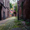 Small alley in Boston's historic neighborhood, Beacon Hill