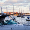 Boats on the water in Boston Marina