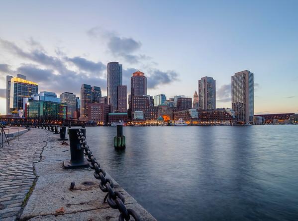 Sunset on Boston's Skyline