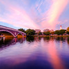Sunset over Harvard University and the Charles River
