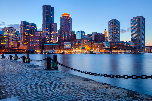 Sunset on Boston's Skyline