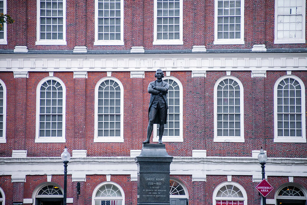 Statue of Samuel Adams in Boston