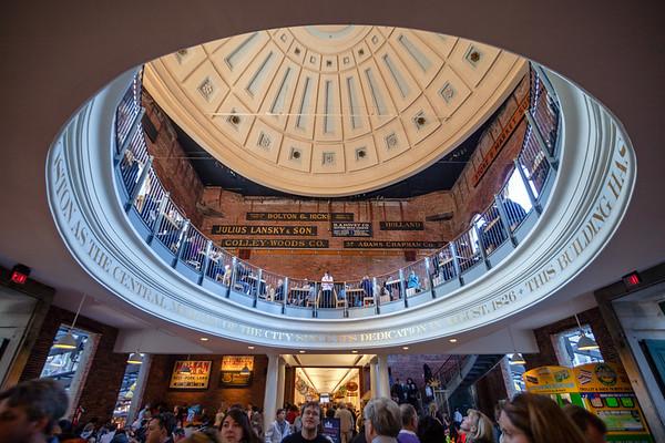 Interior of Faneuil Hall, Boston