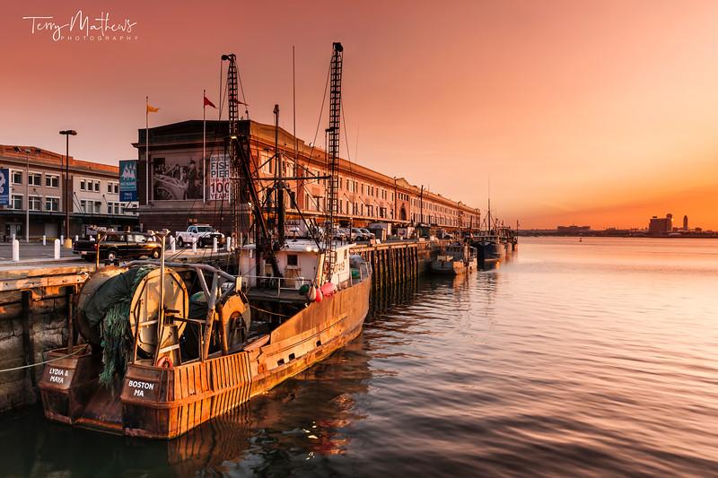 Boston Harbour Sunrise -  Massachusetts