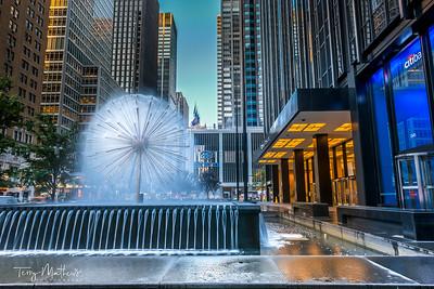 New York Hilton Fountain