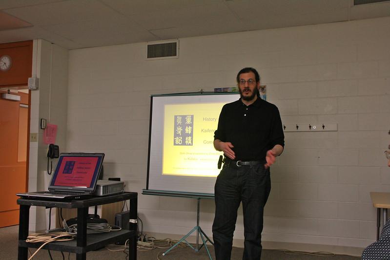 Michael Goller introducing Shi Lei in Cincinnati