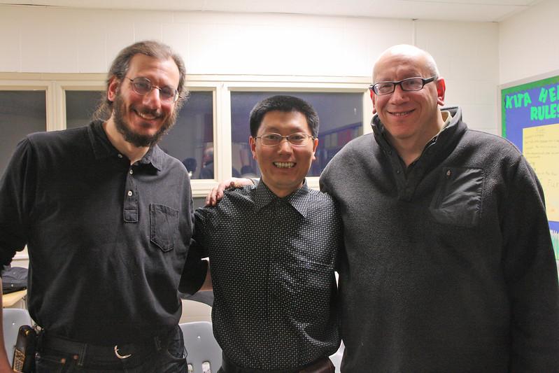 Shi Lei with Michael and Stuart Goller in Cincinnati