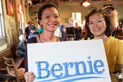 Bernie Sanders rally with Ben Cohen and Jerry Greenfield at the Philadelphia Brewing Company. Event was coordinated by Judy Wicks, Jason Gordon and Katie Bertelsen.