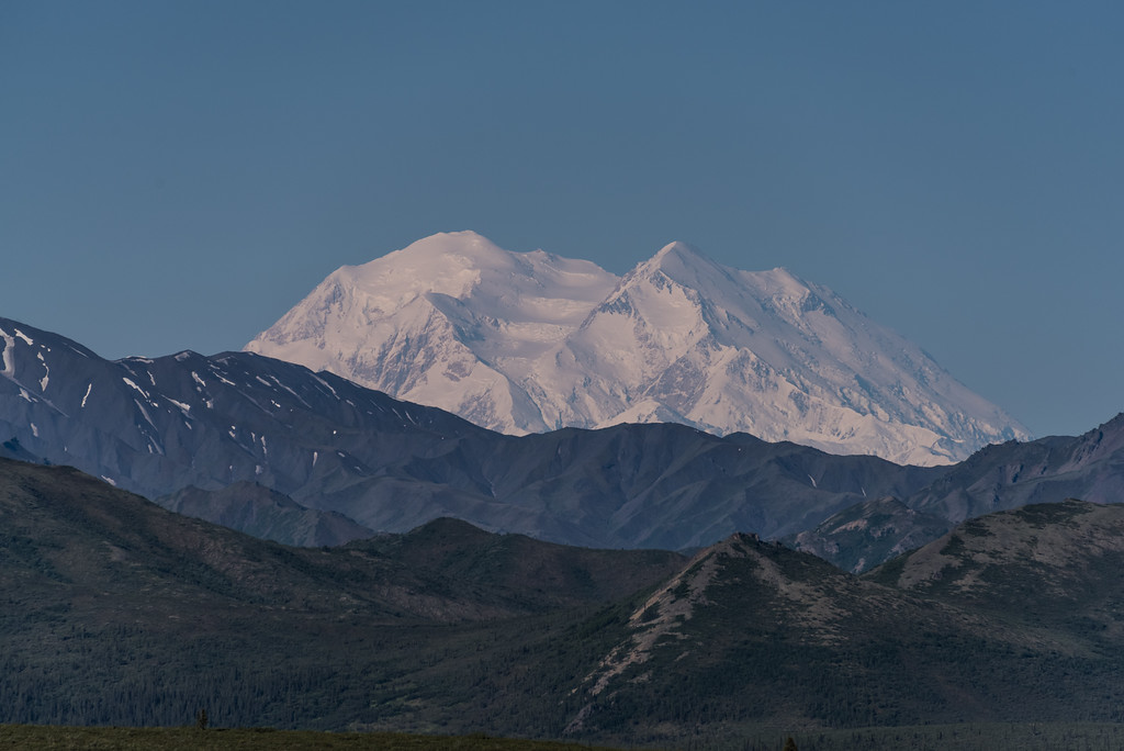 First Glimpse of Denali from Park Road