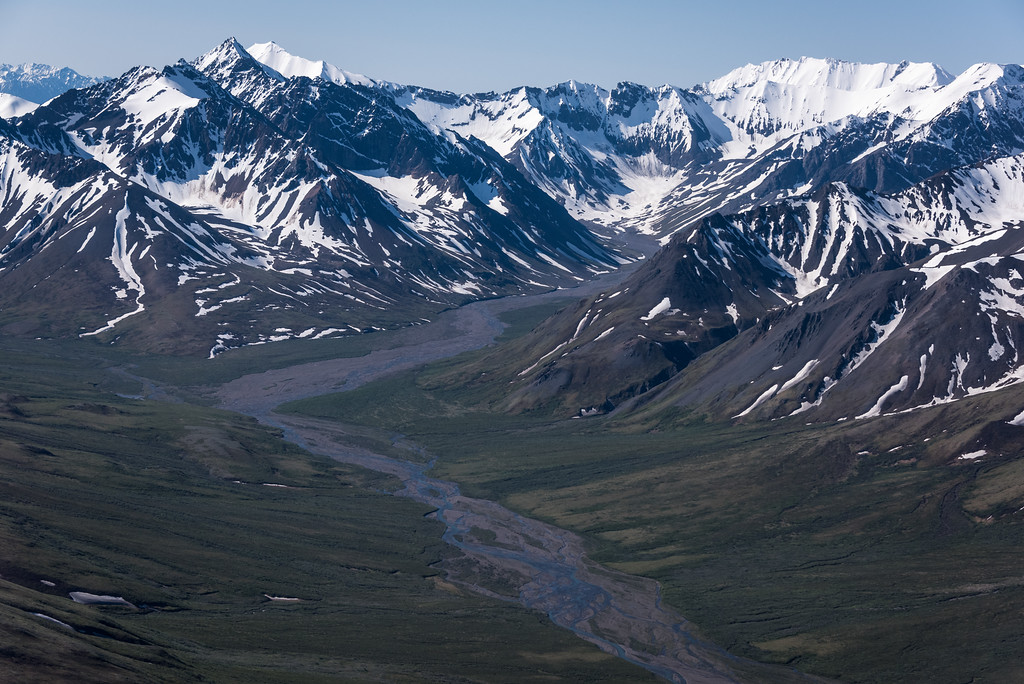 Alaska Range from Plane