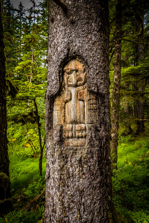 Sign, Raven Clan Territory Tree Carving
