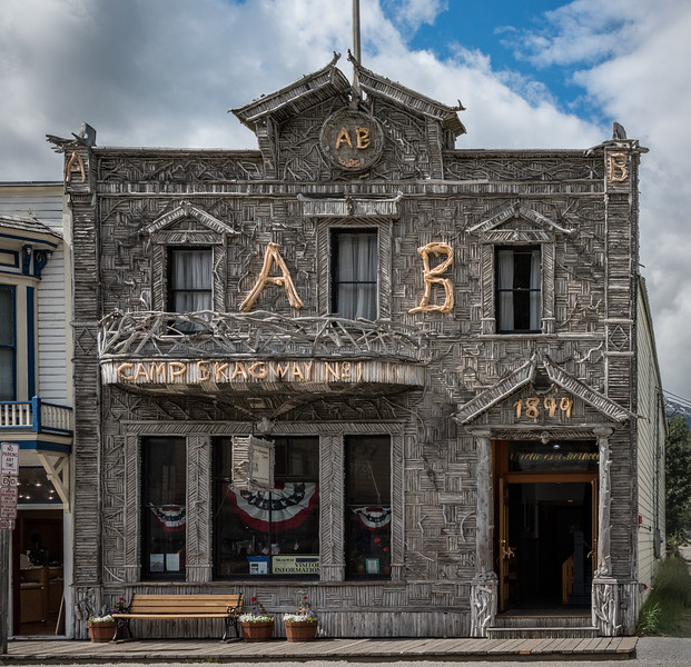 Arctic Brotherhood Hall, 8,883 pirces of Drift Wood Skagway