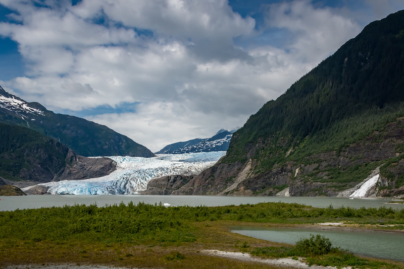 Mendenhall Glacier and Nugget Falls