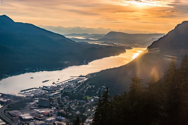 Sunset over Juneau