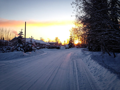 Early afternoon in Fairbanks, Alaska