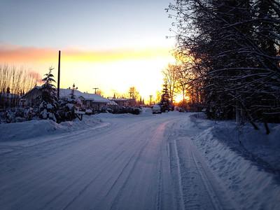 Early afternoon in Fairbanks, Alaska