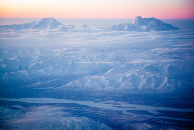 Denali National Park from the flight to Fairbanks, Alaska