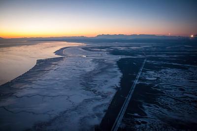 Flight from Anchorage to Fairbanks, Alaska
